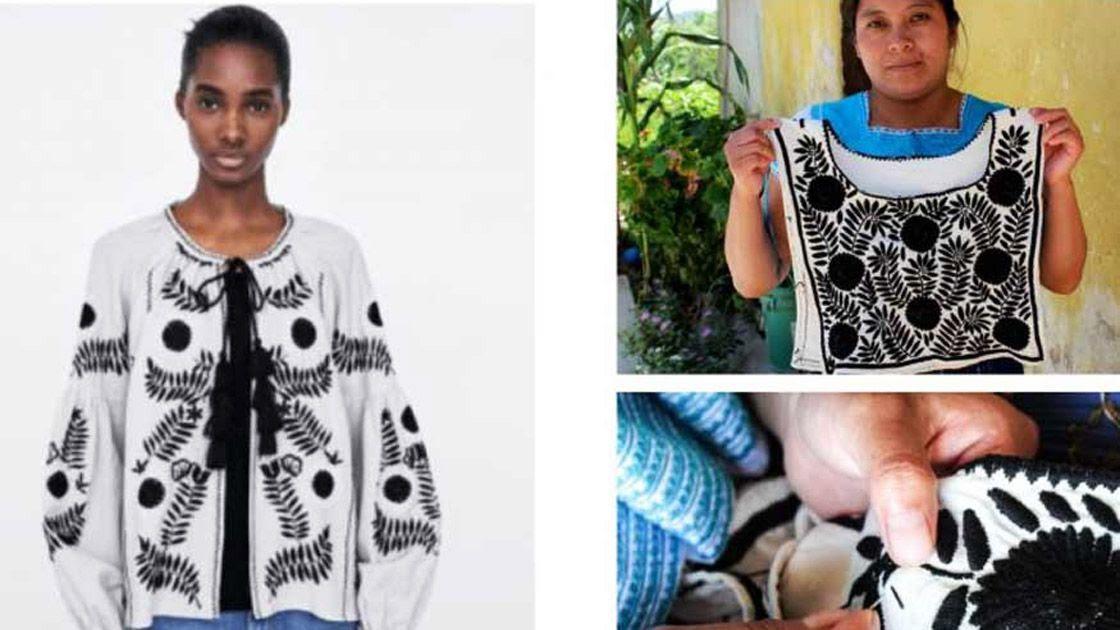 En 2018, en un segundo caso, la marca de ropa Zara copió diseños y patrones indigenas y los vendió en el mercado internacional como propios. Foto: Tomada de Facebook.