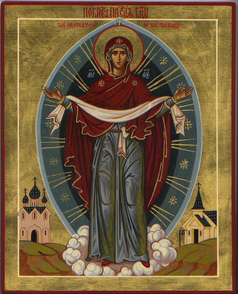 Image result for icons Protection of the Mother of God