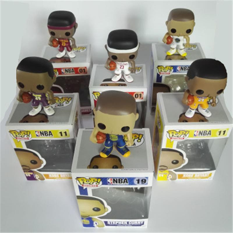 Funko pop Basketball Star James Kobe Stephen Curry Kyrie Irving John Wall Action Figure Collectible Model Toy for Fans Gifts