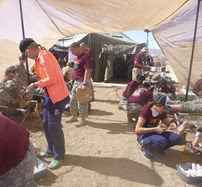 Medical tent at the Bataan Death March