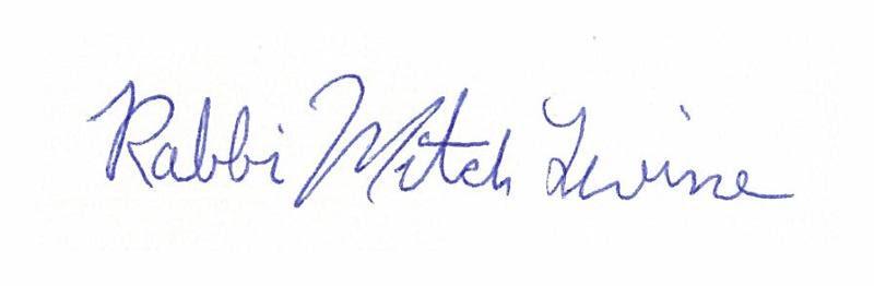 Rabbi Mitch Levine signature