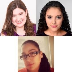 Individual headshots of Rebecca Gross, Brilynn Rakes and Crystal M. Vazquez