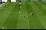 The Dream League Soccer 2016 app, free on iOS and Android, has an onscreen joystick and three buttons for controlling how players kick or pass the ball or intercept opposing players.
