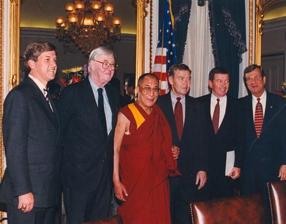 US Senators welcome His Holiness the Dalai Lama, 1996