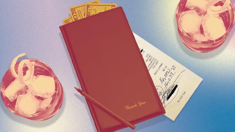 A receipt showing a $16,000 tip