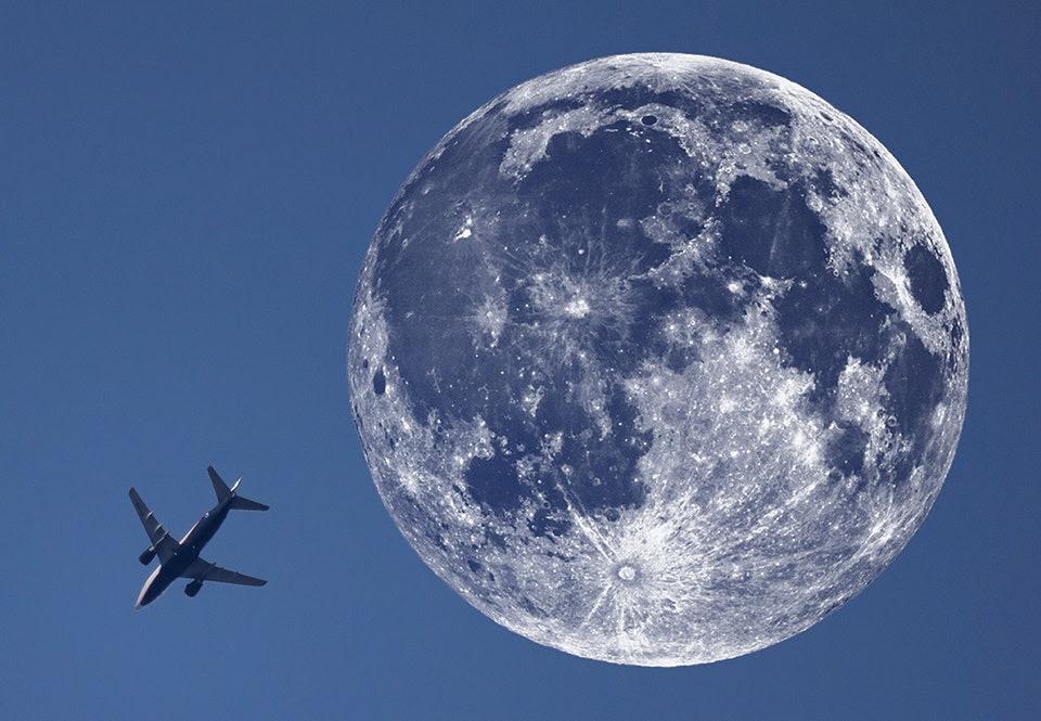 Se månen torna upp sig i gigantisk storlek