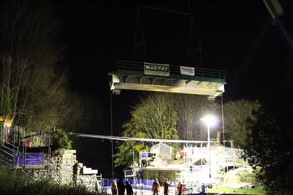 New bridge over canal in Burnley