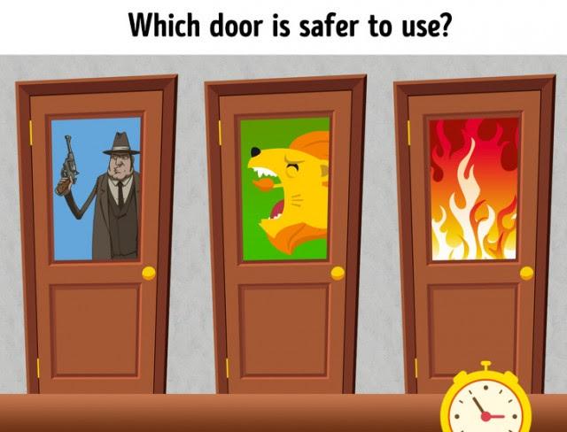 6. Cánh cửa nào an toàn?,câu đố,trắc nghiệm