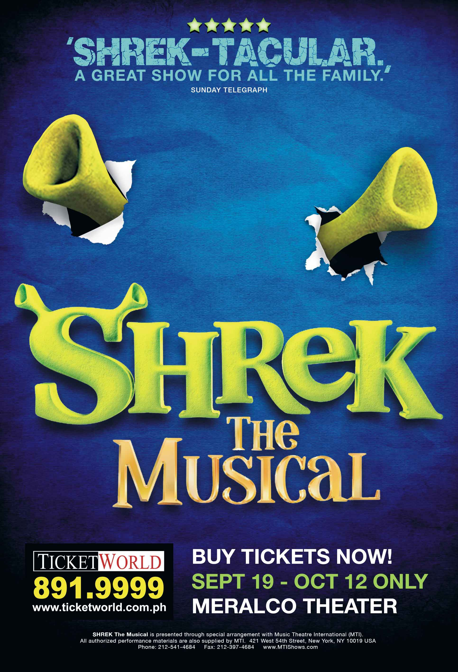 Shrek The Musical - Poster