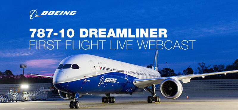 787-10 Dreamliner First Flight