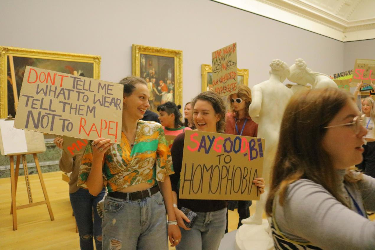 Students from Plymouth College of Art protest at Tate Britain 4