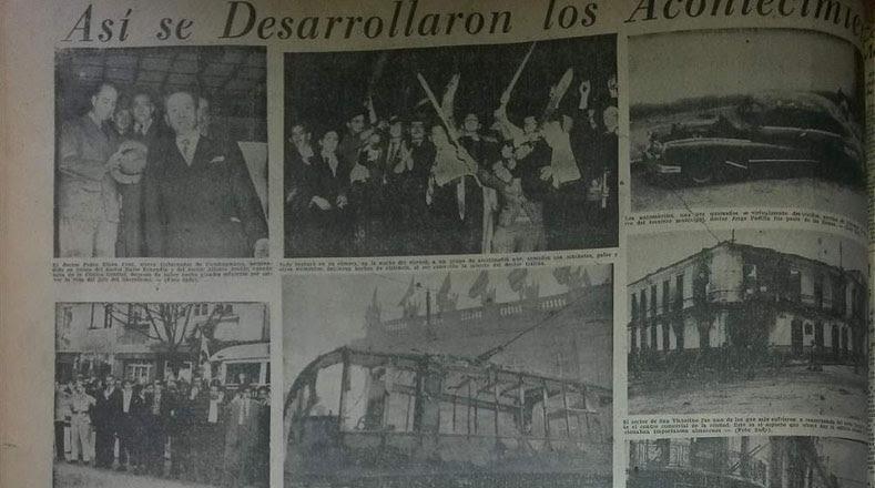 Imágenes de la prensa colombiana sobre los acontecimientos.