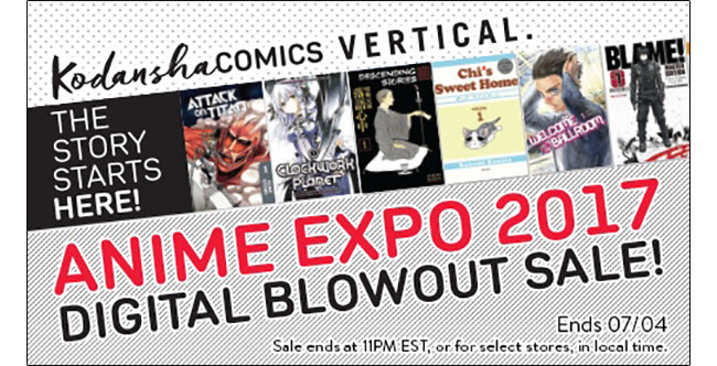 Up to 55% off volumes and chapters! Experience the award-winning manga from Hajime Isayama with volumes and chapters for up to 55% off! Sale ends 6/19.