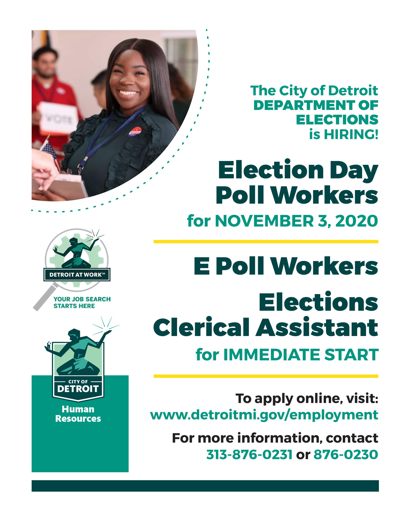 City of Detroit Needs Election Workers