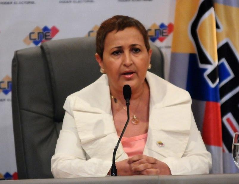 La presidenta del CNE, Tibisay Lucena
