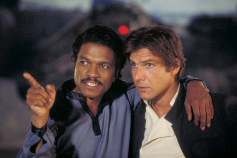 Harrison Ford With Billy Dee Williams (Captain Lando)
