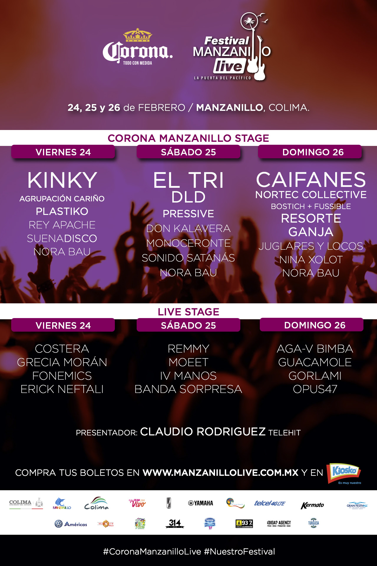 Cartel Final, Festival Corona Manzanillo