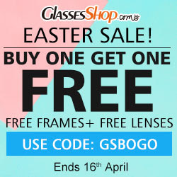Easter sale! BUY ONE GET ONE FREE, Using Code GSBOGO At GlassesShop.com! Promo ends 4/16/2017