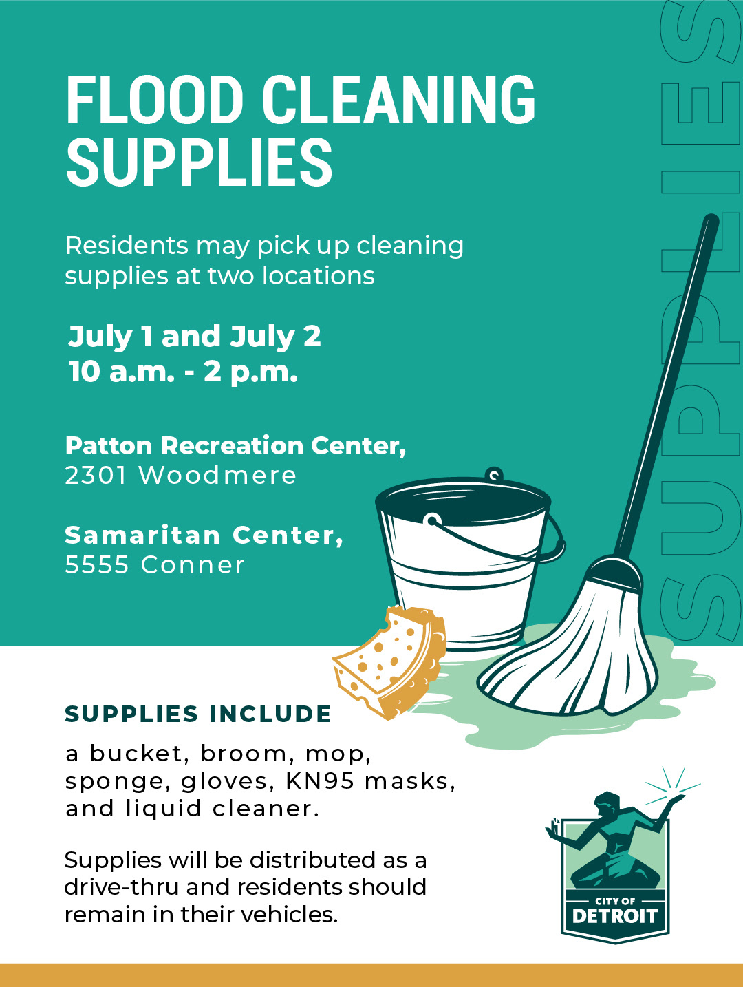 Flood Cleanup Supplies for Detroit Residents