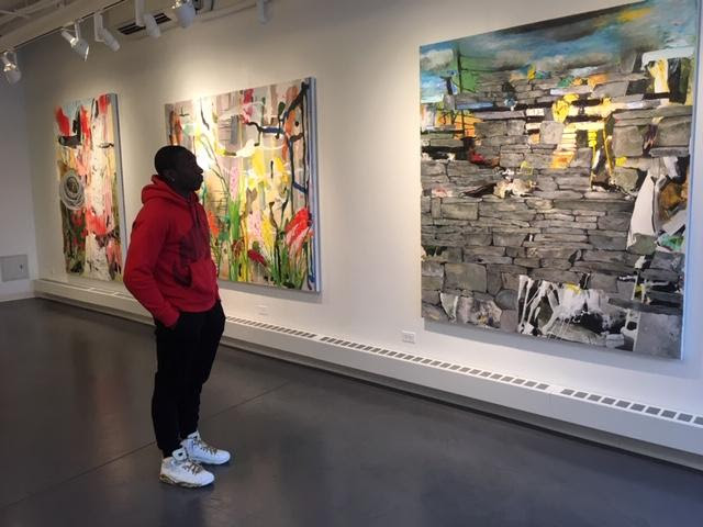 visitors to 2 Painters show