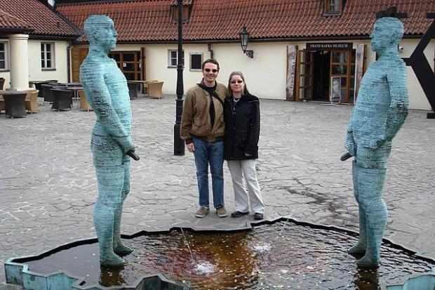 Crazy statues