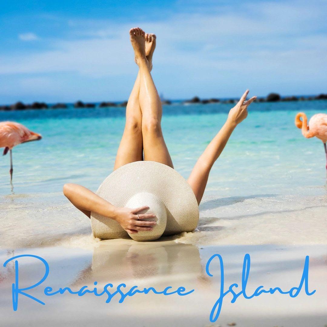 Aruba Renaissance Island flamingos