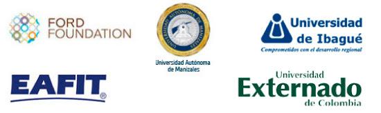 Patrocinadores: Ford Foundation, Universidad Manizales, Universidad EAFIT