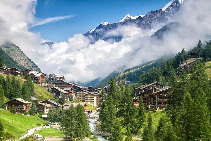 breathtaking views of Zermatt, Switzerland