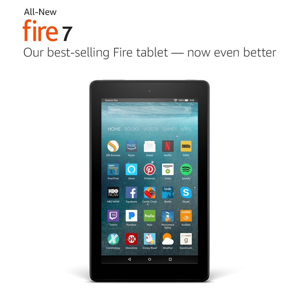 "Prime Members Only, Save $15 for the BEST PRICE EVER on the latest generation Fire Tablet! <br /> All-New Fire 7 Tablet with Alexa, 7"" Display, 8 GB"