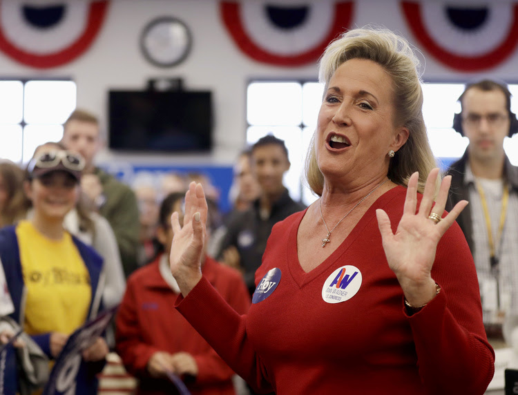 Ann Wagner speaks to supporters at her campaign office last fall. She's decided to not risk her safe suburban St. Louis House seat. (Jeff Roberson/AP)</p>
