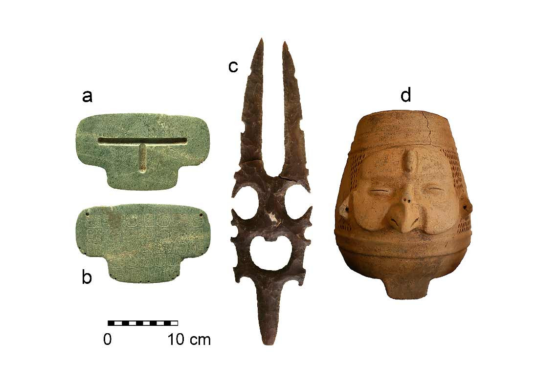 Tres de los objetos enterrados por los mayas alrededor del año 800. ¿Por qué fueron sepultados?
