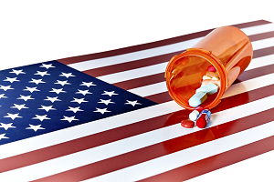 pills and flag