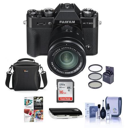 X-T20 24.3MP Mirrorless Digital Camera with XC 16-50mm f/3.5-5.6 OIS II Lens, Black - Bund