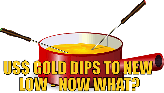 US$ gold Price Dips