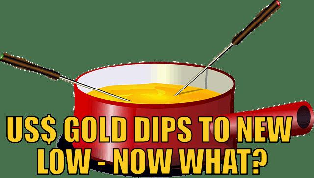 US$ gold Price Dips