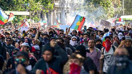 Protestas en Palacio de la Moneda. 28 de octubre, 2019.
