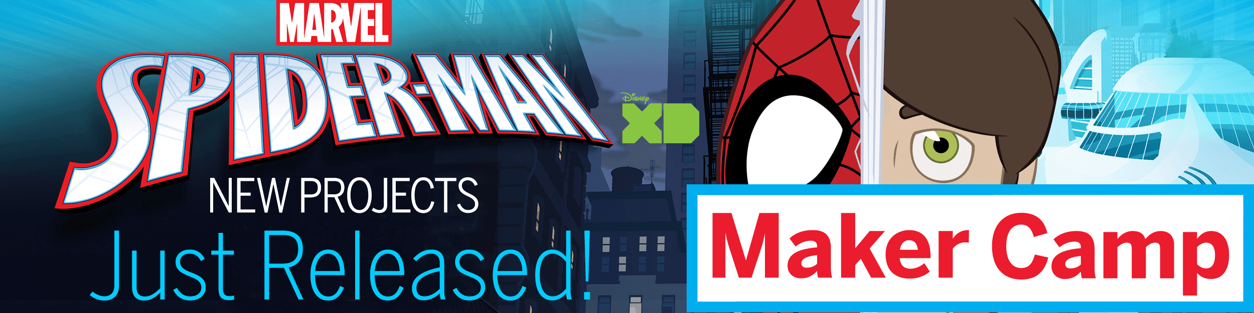 Marvel Spider-man New Maker Camp Projects