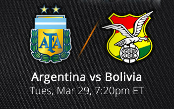 Watch Argentina vs Bolivia Live