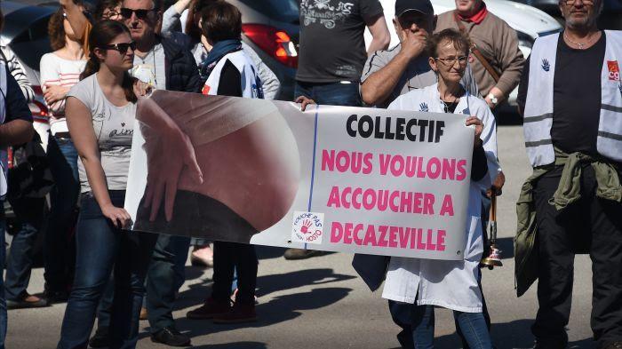 Vive opposition à la fermeture de la maternité de Decazeville