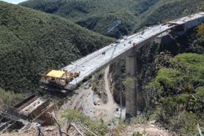 A bridge on the Oaxaca-Coast highway