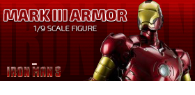 Iron Man 3: 1/9 Scale Iron Man Mark III Armor Figure