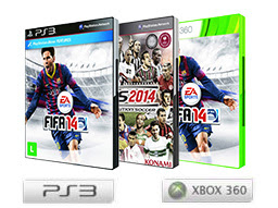FIFA 14 e PES 14. Coloque sua seleção em campo!