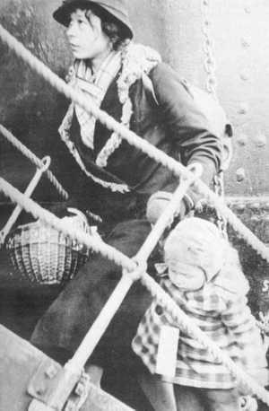Wilhelm Gustloff, mamă cu copil