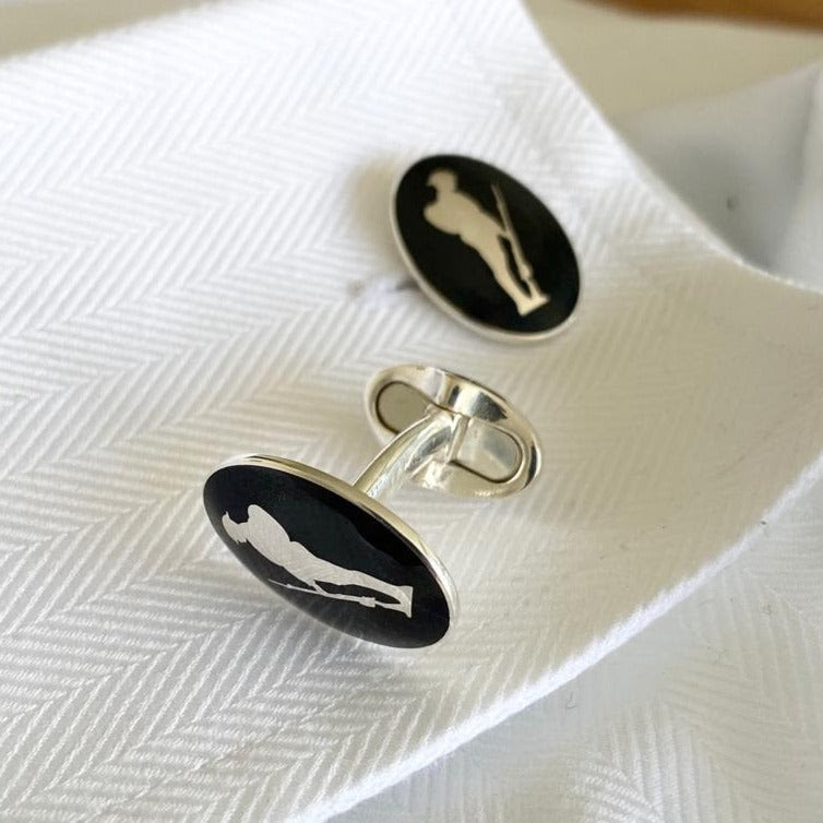 Hand Made Sterling Silver Tommy Cufflinks