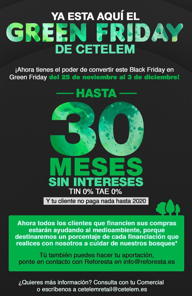 Cetelem convertirá este black friday en green friday