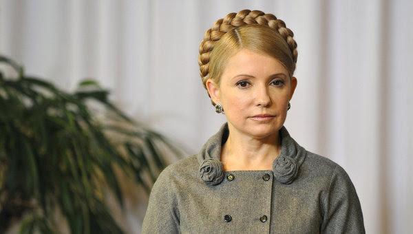 La ex primera ministra y líder de oposición en Ucrania, Yulia Timoshenko