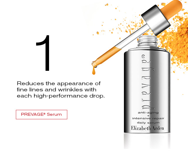 1    Reduced the appearance of    fine lines and wrinkles with   each high-performance drop.   PREVAGE® Serum