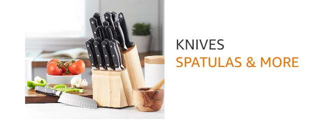 Knife sets, spatulas & more from AmazonBasics