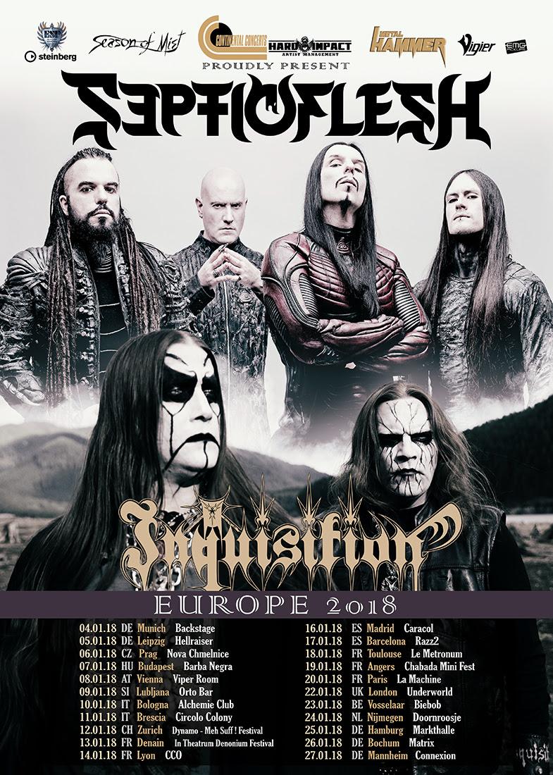 SEPTICFLESH tour poster EU 2018