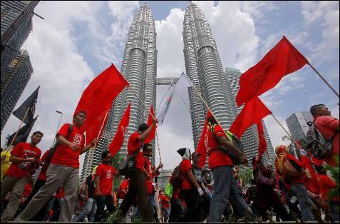 Protestas en Kuala Lumpur